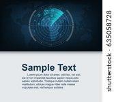 radar searching money on world...   Shutterstock .eps vector #635058728