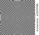 black and white hypnosis spiral.... | Shutterstock .eps vector #635059988