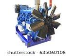 diesel engine big power painted ... | Shutterstock . vector #635060108
