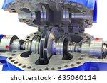 industrial high pressure  pump  ... | Shutterstock . vector #635060114
