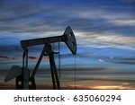 oil pump oil rig energy... | Shutterstock . vector #635060294