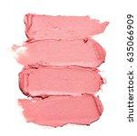 pink makeup smear of lip gloss... | Shutterstock . vector #635066909