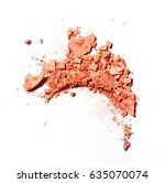 make up crushed powder on white ... | Shutterstock . vector #635070074