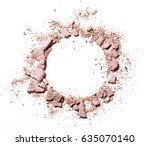 make up crushed powder on white ...   Shutterstock . vector #635070140