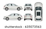 suv car set on white background ... | Shutterstock .eps vector #635073563