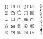 perfect pixel outline line icons | Shutterstock .eps vector #635076770