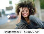 Young Mixed Woman With Afro...