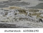 Muddy Sea Waves On A Stormy...