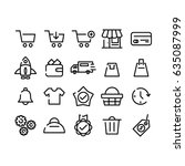 e commerce icon set | Shutterstock .eps vector #635087999