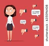 sad unhappy unsuccessful... | Shutterstock .eps vector #635096408