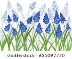 vector illustration of blue... | Shutterstock .eps vector #635097770