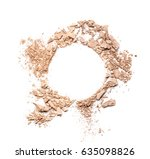 make up crushed powder on white ... | Shutterstock . vector #635098826