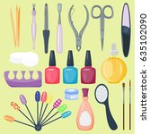 manicure nail instruments tools ...   Shutterstock .eps vector #635102090