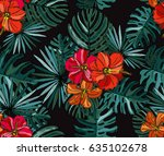 elegant seamless pattern with... | Shutterstock .eps vector #635102678