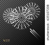 white firework  bright light... | Shutterstock .eps vector #635107208