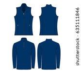 blue color autumn fleece vest... | Shutterstock .eps vector #635111846