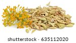 Fennel Seeds With Flowers Over...