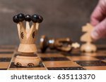 chess photographed on a chess... | Shutterstock . vector #635113370