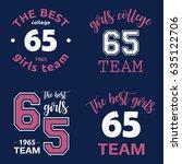 the best girls team college...   Shutterstock .eps vector #635122706
