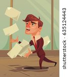 careless inattentive... | Shutterstock .eps vector #635124443