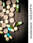 pharmaceutical medicament  cure ... | Shutterstock . vector #635124974