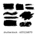brush strokes isolated. ink... | Shutterstock .eps vector #635126870