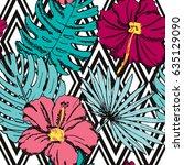 elegant seamless pattern with...   Shutterstock .eps vector #635129090