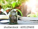 money saving growth to profit... | Shutterstock . vector #635129603