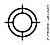 target vector line icon | Shutterstock .eps vector #635130296