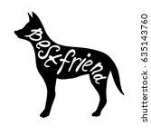 best friends phrase. white... | Shutterstock .eps vector #635143760