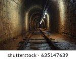 underground mine passage angle... | Shutterstock . vector #635147639
