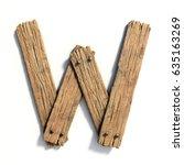Wood Font  Plank Font Letter W