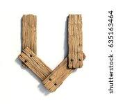 wood font  plank font letter u | Shutterstock . vector #635163464