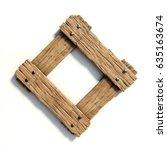wood font  plank font letter o | Shutterstock . vector #635163674