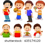 collection of cartoon little... | Shutterstock .eps vector #635174120