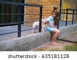 asia woman sitting in the floor ... | Shutterstock . vector #635181128