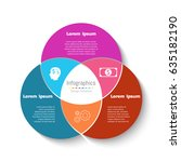 vector circle infographic... | Shutterstock .eps vector #635182190