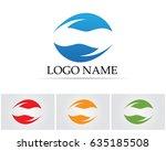 vector leaves green nature logo ... | Shutterstock .eps vector #635185508