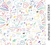 party abstract vector pattern.... | Shutterstock .eps vector #635191064