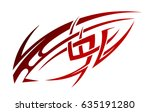 tribal tattoo in ethnic style ... | Shutterstock .eps vector #635191280