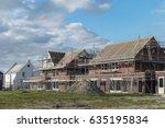 construction site of new dutch... | Shutterstock . vector #635195834