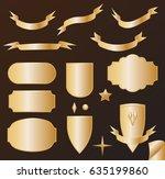 vector set golden design... | Shutterstock .eps vector #635199860