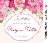 wedding invitation  thank you... | Shutterstock .eps vector #635207243