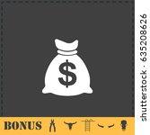 money icon flat. simple...
