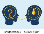 thinking and problem solving... | Shutterstock .eps vector #635214104