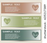 business cards design. heart... | Shutterstock .eps vector #635217389
