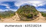 full 360 virtual reality... | Shutterstock . vector #635218214
