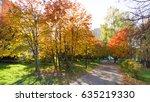 autumn in the city park   Shutterstock . vector #635219330