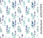 floral seamless pattern.... | Shutterstock . vector #635219393