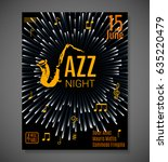 jazz night background. vector... | Shutterstock .eps vector #635220479